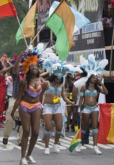 2012 West Indian Day parade (j-No) Tags: costumes girls party wild people food ny black west color sexy ass st sex brooklyn fun island women breasts colorful day dancers legs skin indian nation banner feathers pride flags parade celebration national bikini jamaica parkway trinidad tropical africanamerican lucia caribbean annual ethnic eastern seminude tobago represent humping dominica kitts