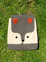 Wanderlust Critter Backpack (The Fantastic Fox) (my little odd forest) Tags: men animal design singapore handmade laptop label fabric fox backpack indie gadget forestprints littleoddforest unisex ipad