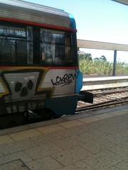 Lagos Station Old and New (Curs'ed Commuter) Tags: portugal station faro railway lagos comboiosdeportugal srie0450 class0450