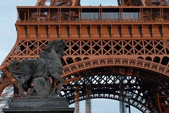 Eiffel Tower at dusk (AperturePaul) Tags: paris france tower 35mm nikon tour dusk eiffel d7000