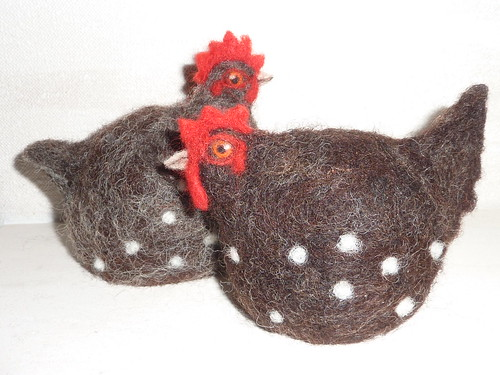 Gretel & Greta the spotty egg cosies