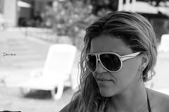 Rejane (Debora Marinho ;) Tags: friends party portrait people woman sun hot flower sexy men sol pool sunglasses braslia branco brasil club swimming canon de fun happy 50mm df day pb piscina preto sensual diverso e brazilian vero clube culos magno calor rejane t2i
