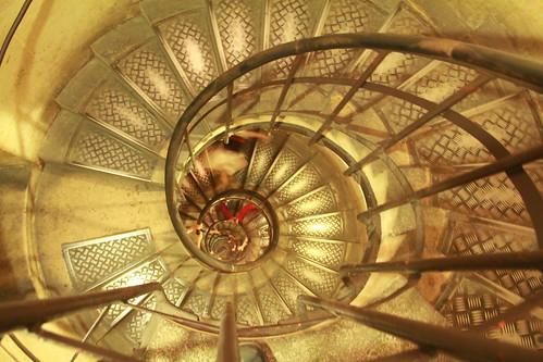 paris france canon de spiral eos arc triomphe staircase 2012 60d