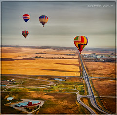Up Up and Away (ZWQphotos) Tags: scenery balloon alberta hotairballoon ballooning lanscape highriver showandshine