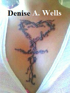 Faith Hope Love Heart Cross Tattoo Design by Denise A. Wells