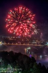 Did I Mention, There Were Fireworks? (jah32) Tags: nikon night nightshots niagarapenninsula niagara niagarafalls niagarariver fireworks canadaday bridge