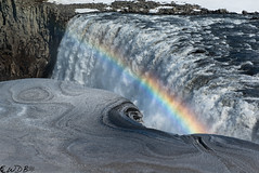 Arcs and swirls (Bill Bowman) Tags: dettifoss jkulsfjllumriver rainbow dirtysnow iceland sland