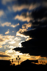 Stretch The Sunset (LensbabyLindsay) Tags: lensbaby lensbabies sunset sky clouds nature