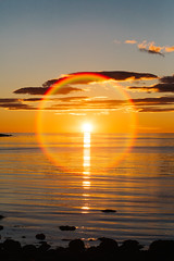 rnes Sunset (dataichi) Tags: sunset halo flare ocean coast shore sun light nordland norway landscape nature outdoors travel tourism destination