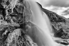 Oh tangle of matter and ghost (OR_U) Tags: 2016 oru iceland gluggafoss leonardcohen merkjrfoss water waterfall le longexposure bw sw blackandwhite blackwhite schwarzweiss clouds monochrome rocks