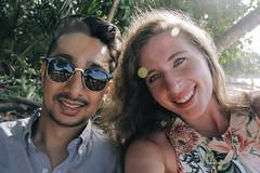 B & C (Carly.Gussert) Tags: costa rica portrait wedding fancy hot handsome girl inter racial couple lol punta uva flower dress sunglasses
