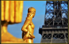Paris- A view to Eiffel tower (Ioan BACIVAROV Photography) Tags: paris view eiffel tower eiffeltower gold statue bacivarov ioanbacivarov bacivarovphotostream interesting beautiful wonderful wonderfulphoto nikon woman women girl girls fille filles fata fete glamour sexy nude art france