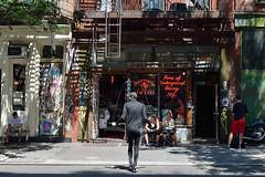 Bleecker Street Skip (Eddie C3) Tags: newyorkcity manhattan bleeckerstreet streetscenes overthrowboxingclub