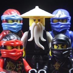 "Character of a Ninja - ""Family"" Portrait (rioforce) Tags: rioforce lego brickfilm ninja ninjago brickfilming legoninjago character kai jay zane cole lloyd nya wu lighting behindthescenes tutorial"