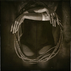 """""""How Much Sense Is There in a Geometry of Events in Motion on Circumference"""" II (RapidHeartMovement) Tags: selfportrait portrait poeticalinspirations powiatowska poetry photography monochrome conceptual rapidheartmovement"""