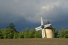 Mill in the storm (GCau) Tags: gecau france provence sunset coucherdesoleil moulin sannes vaucluse storm mill windmill vent orage
