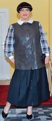 Birgit022808 (Birgit Bach) Tags: pleatedskirt faltenrock buttonthrough durchgeknpft waistcoat weste blouse bluse