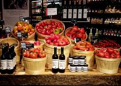 musical tomatoes (overthemoon) Tags: utata:project=tw540 thursdaywalk phonephotos switzerland suisse schweiz svizzera bern berne shop store departmentstore gourmet tomatoes tomates tomaten