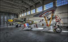 Duxford 7 (Darwinsgift) Tags: duxford imperial war museum air hangar interior bi plane biplane nikkor 20mm f18 g nikon d810 photomatix pro 5 photoshop planes vintage display hdr