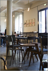 Cafeterie 1 (arrixaca15) Tags: friche belle mai arquitecture architecture arquitectura marseille marsella france street rue callejera ventanas luz cafe cafeterie bar chaises chairs sillas