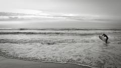 (thierrylothon) Tags: phaseone captureonepro c1pro aquitaine gironde monochrome noirblanc publication fluxapple flickr leica leicaxtyp113 personnage ocan plage graphisme paysage activit surf