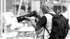 Photographer (patrick_milan) Tags: noiretblanc blackandwhite noir blanc monochrome nb bw black white street rue people personne gens streetview homme man viril beau boy garon beautiful portrait face candide