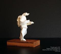 """Wandervogel 2 Fu"" (MrViolinPeter) Tags: peter stein mrviolinpeter origami papierfalten orgel skulptur wetfolding nassfalten bird human"