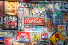 Sign, Sign, Everywhere a Sign (susanc59) Tags: signs sign phillips66 topvaluestamps bud dekalb coca cola cocacola pepsi