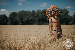 No More (Manuel Bally Photography) Tags: wheat asian sunny skinnyboy skin 2016 boy countryside summer indian asianboy 5dmarkiii indianheaddress feather man portrait asianman field
