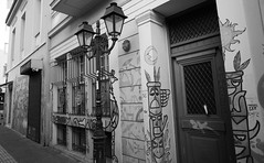 Athens - Monastiraki road forgoten (spicros78) Tags: athens monastiraki thisio canon5dclassic canon17404l test blackandwhite bw graffiti graffity