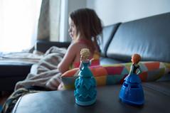 Princesses (librariansarah) Tags: elsa anna dolls figurines toddler preschooler foreground