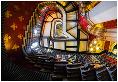 Grand staircase St Pancras Hotel... (kevingrieve610) Tags: staircase st pancras hotel flickr fujifilm wow depthoffield fuji samyang 8mm fisheye wideangle london city autumn 2016