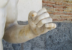 Polykleitos, Doryphoros, detail with left hand