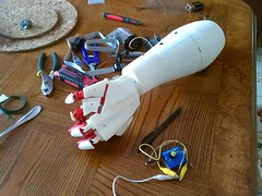Right Back Hand (bstott) Tags: hand arm fingers right assembled inmoov