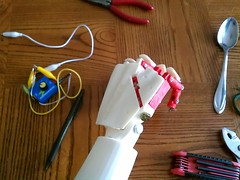 Right Hand - Table (bstott) Tags: hand arm fingers right covers assembled inmoov