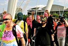 Pussy Riot Superheroes Freeze Flashmob
