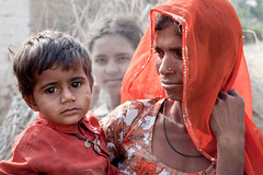 Mother and Son _8089 (hkoons) Tags: homes ladies boy portrait people woman india house man male men kids lady female rural children person women asia village child desert masculine feminine country central human bikaner thar rajasthan individual raisa