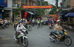 Haiphong Traffic (NettyA) Tags: road street travel people canon asia vietnamese traffic vietnam motorbike southeast motorbikes loads carrying haiphong eos550d
