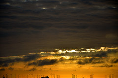 SUNRISE OVER BOTANY BAY  (106) (DESPITE STRAIGHT LINES) Tags: uk morning sea england sky cliff cloud sunlight seaweed beach wet water silhouette rock clouds sunrise dawn bay coast boat chalk kent seaside am sand nikon rocks waves ship power cloudy sandy tide shoreline silhouettes wave vessel cliffs coastal shore coastline botanybay tidal windfarm goldenhour turbines firstlight broadstairs thegoldenhour offshorewindfarm botanybaykent d7000 nikon18105mmvr nikongp1 botanybaybroadstairs nikond7000 sunriseoverbotanybay botanybayuk