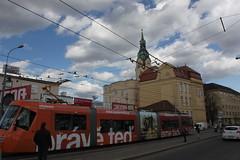 A tram going through Brno, Czech Republic (Hazboy) Tags: electric train europa europe republic czech tram brno czechoslovakia republika ceska brunn hazboy hazboy1 hazboyeuro