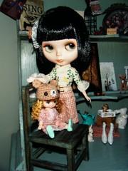 Kiki and her little friend