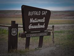Buffalo Gap National Grassland (andbog) Tags: usa sign southdakota canon unitedstatesofamerica powershot sd states grassland cartello g12 buffalogap canong12