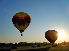 sunrise launch (LaLa83) Tags: morning blue ohio summer sky sunrise fun early fuji balloon august finepix hotairballoon 2012 grovecity balloonsandtunes cobc beulahpark centralohioballoonclub