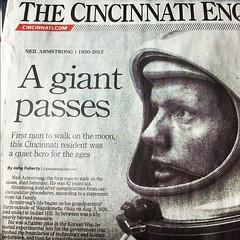 A Giant Passes #NeilArmstrong #Apollo #Apollo11
