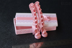 """Shoes for outfit """"Pink happens"""" for Monster High (Trotilla) Tags: pink handmade 2012 201208 formonsterhigh namedpinkhappens"""
