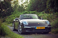 Porsche 991 Carrera S Cabriolet (Thomas van Meijeren) Tags: road sunset 2 brown holland cars netherlands dutch sunshine forest 50mm grey photo nikon shoot open photoshoot 4 wheels 911 roadtrip turbo porsche mk2 f18 shipyard rs 4s gt2 volante carrera cabriolet 991 gt3 d90 2s mk1 worldcars