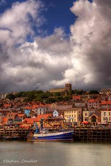 Harbour View (Light+Shade [spcandler.zenfolio.com]) Tags: uk sea england sky clouds geotagged boats harbour scarborough hdr highdynamicrange northyorkshire lightshade tonemapped tonemapping hdrphotography hdrphotographer stephencandler stephencandlerphotography spcandler httpspcandlerzenfoliocom