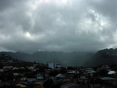rain and clouds moving across Palolo Valley (Guy: Jussum Guy) Tags: mountains rain clouds hawaii oahu honolulu palolovalley kaimuki stlouisheights wilhelminarise panasonicdmczs3