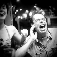 Out - Street Rage #014 (StefanoG.com) Tags: street portrait bw smile night strangers olympus stranger rage 25 toulouse rue nuit omd angenieux 095 em5 angenieux25095 stefanotofs