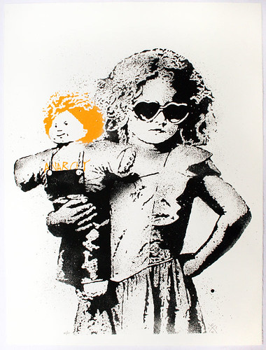 """dolled up"" print, orange"